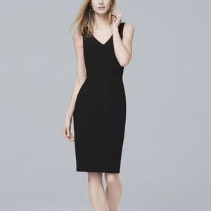 Body Perfecting V-Neck Seamed Sheath Dress Size 12